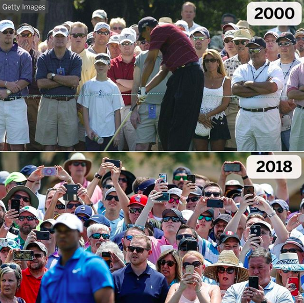 The evolution of watching Tiger Woods